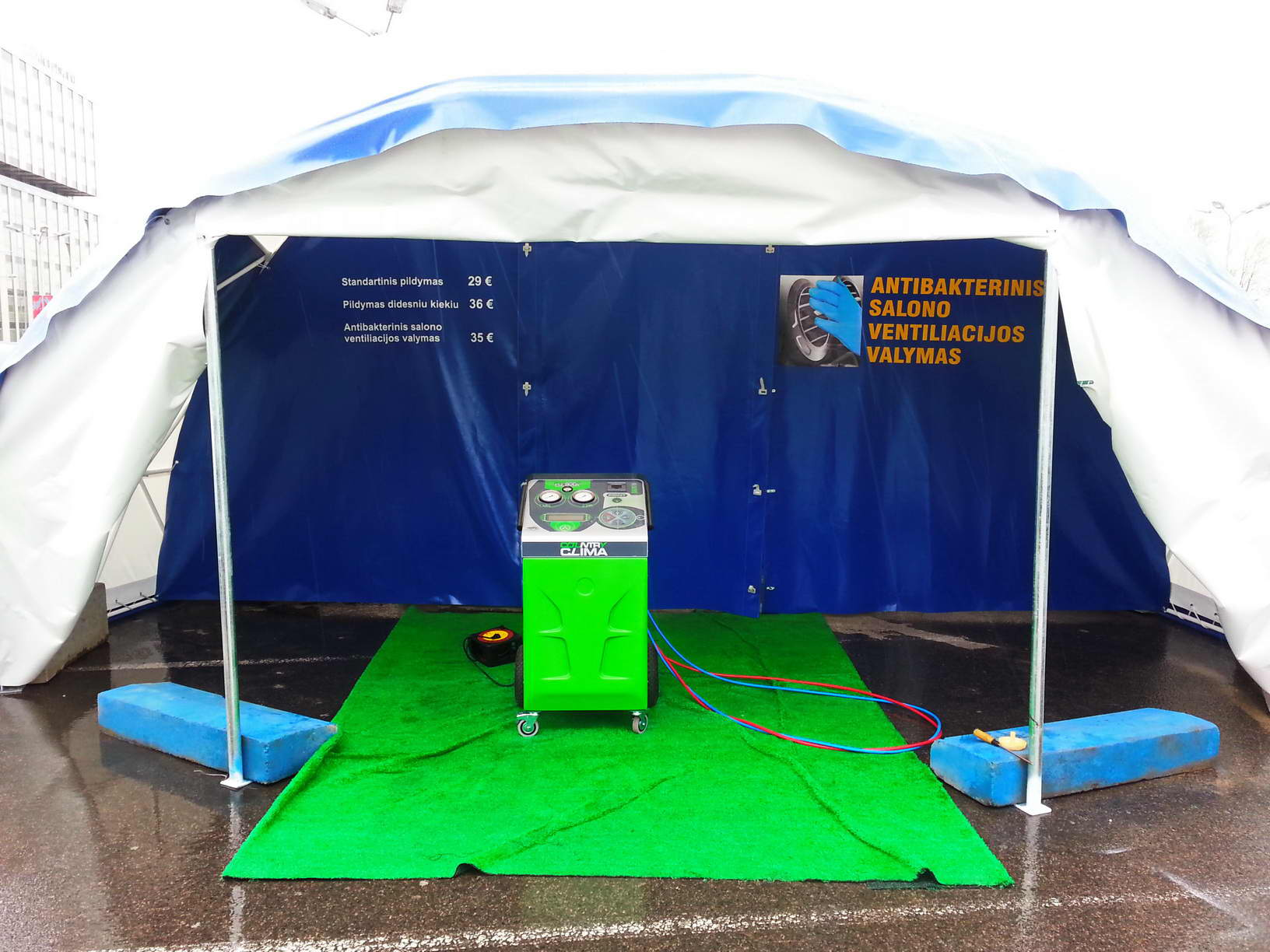 Portable Domes Ø4-6m for Air Conditioning Mobile Service, Lithuania