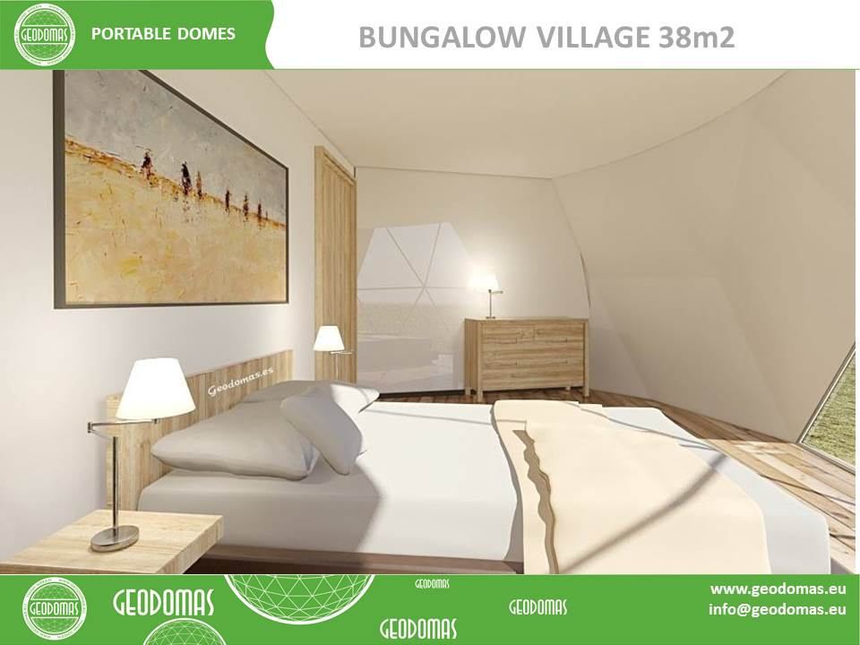 47m² Glamping Village Ø6m | WC & Shower ROOM