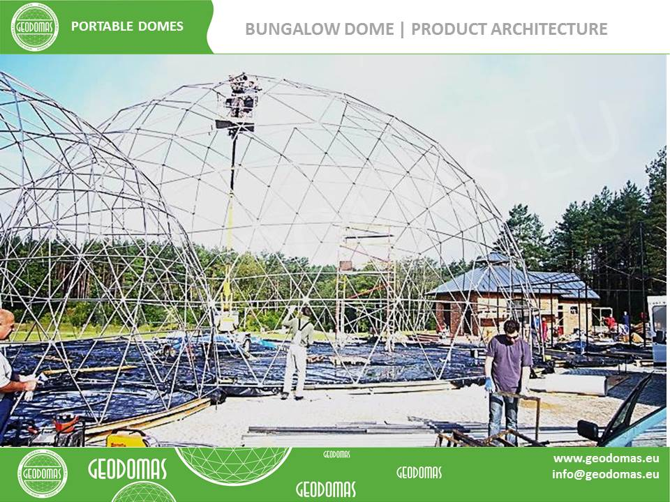 300m² Glamping Hotel 26 rooms | Dome Ø16m Height 8m