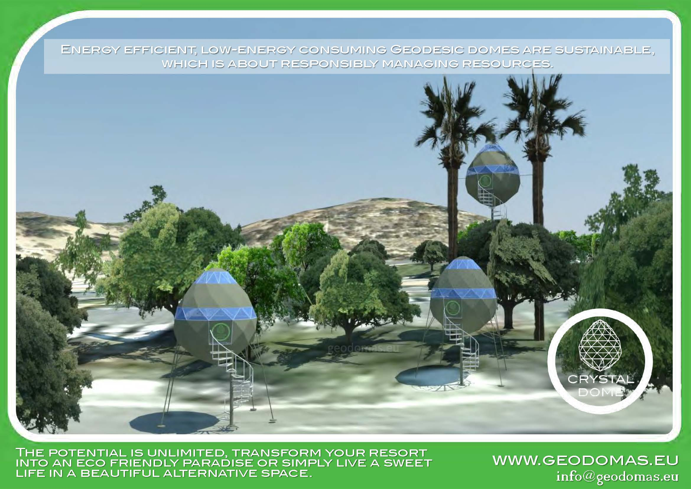 Crystal Dome for Wild Nature   7m2 ⌀3m Tree Dome