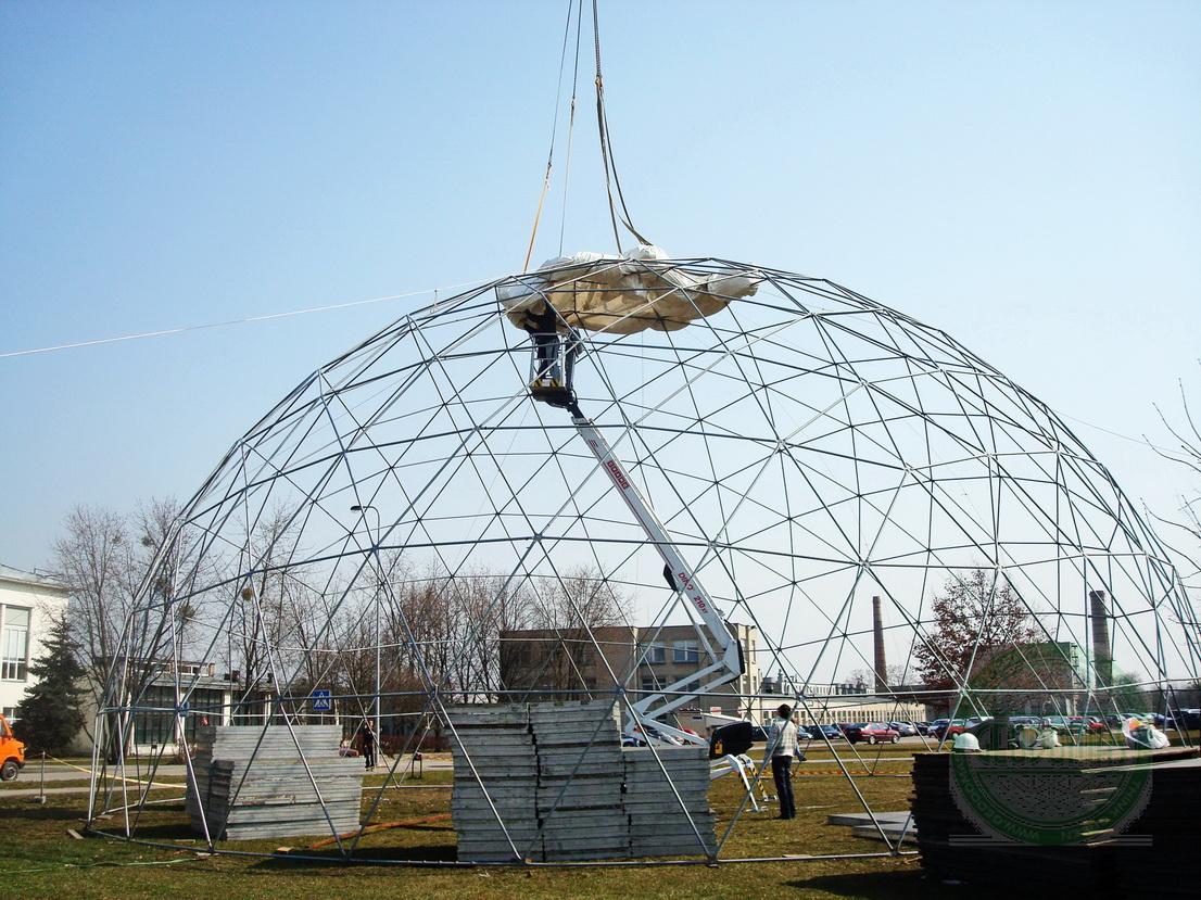 Portable Dome Ø20m for AgroBalt Expo Agriculture, Kaunas, Lithuania
