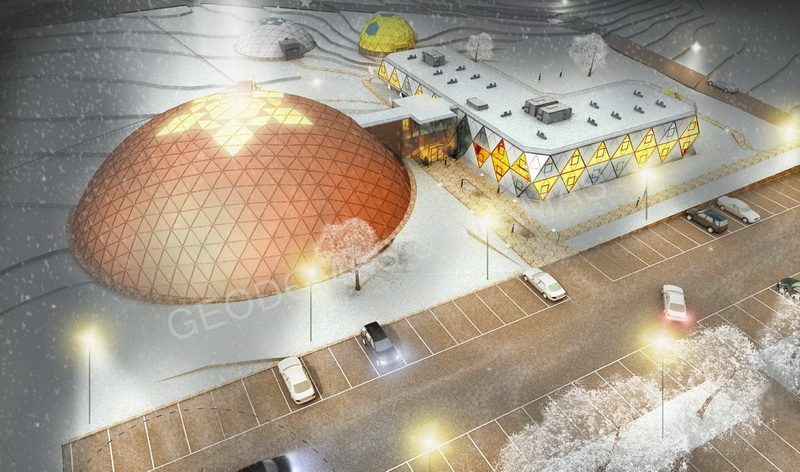 Futuristic Architecture Hotel & SPA Complex 5☆ | Geodesic Domes Business Area 3634m2