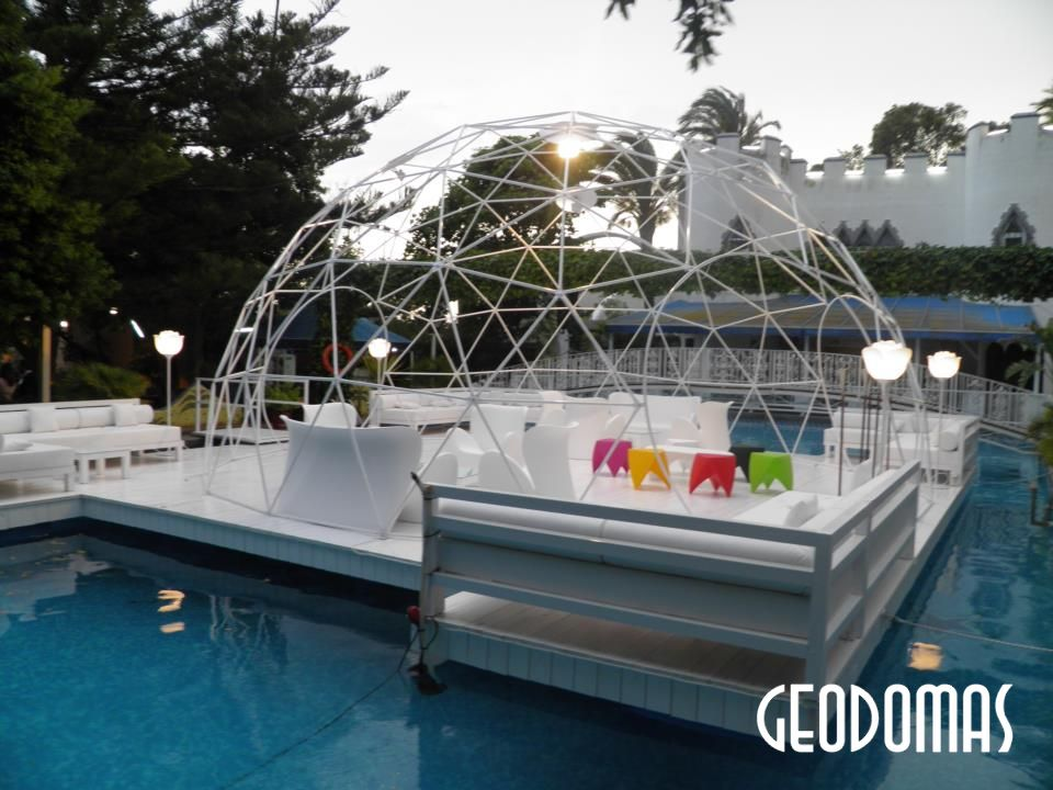 "Geodesic Dome Frame For Wedding Planner ""AQUALANDIA"", Valencia, Spain"