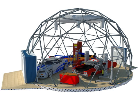 Automotive Garage Fixing Dome | Prefabricated Steel Buildings