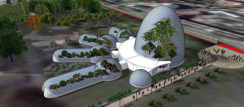 Botanical Garden BFU Kantа Reconstruction | Geodesic Domes 1700m2, Kaliningrad, Russia