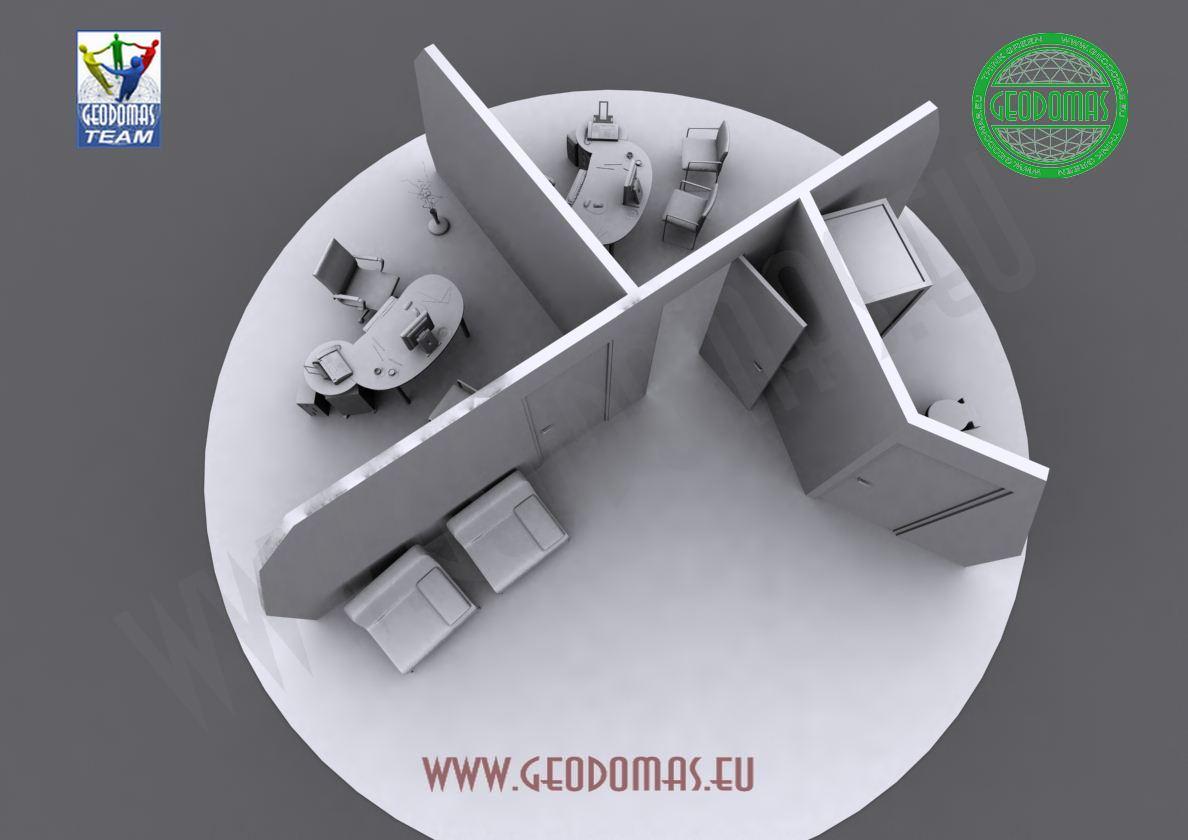 Portable Bungalow Studio Ø6m F3 28m2 Height | For Public Use