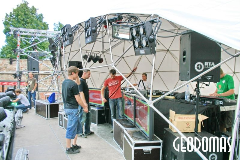 Geodesic Dome scene Estrada Ø11m for John Digweed @ Pure Future 2009 Trakai, Lithuania