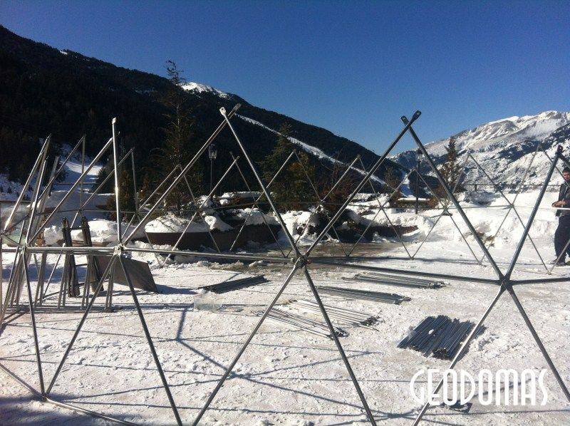 Portable Ø8m Dome for Women Alpine Ski Championship 2012 Soldeu, Andorra