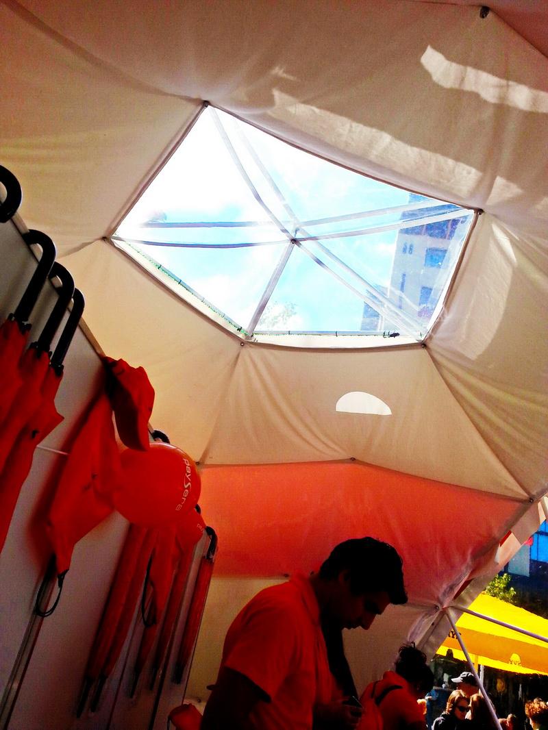 Portable dome Ø6m F3 For PAYSERA – Global transfers Company   Lithuania