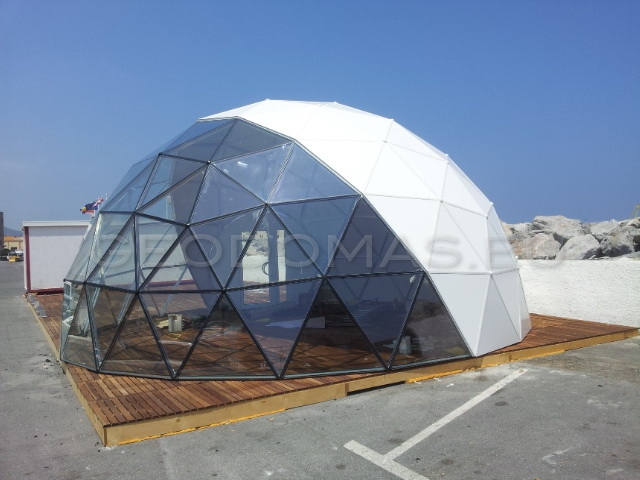 Bar Restaurant Glass Dome Ø8m H6m, Puerto de Ceuta, Spain