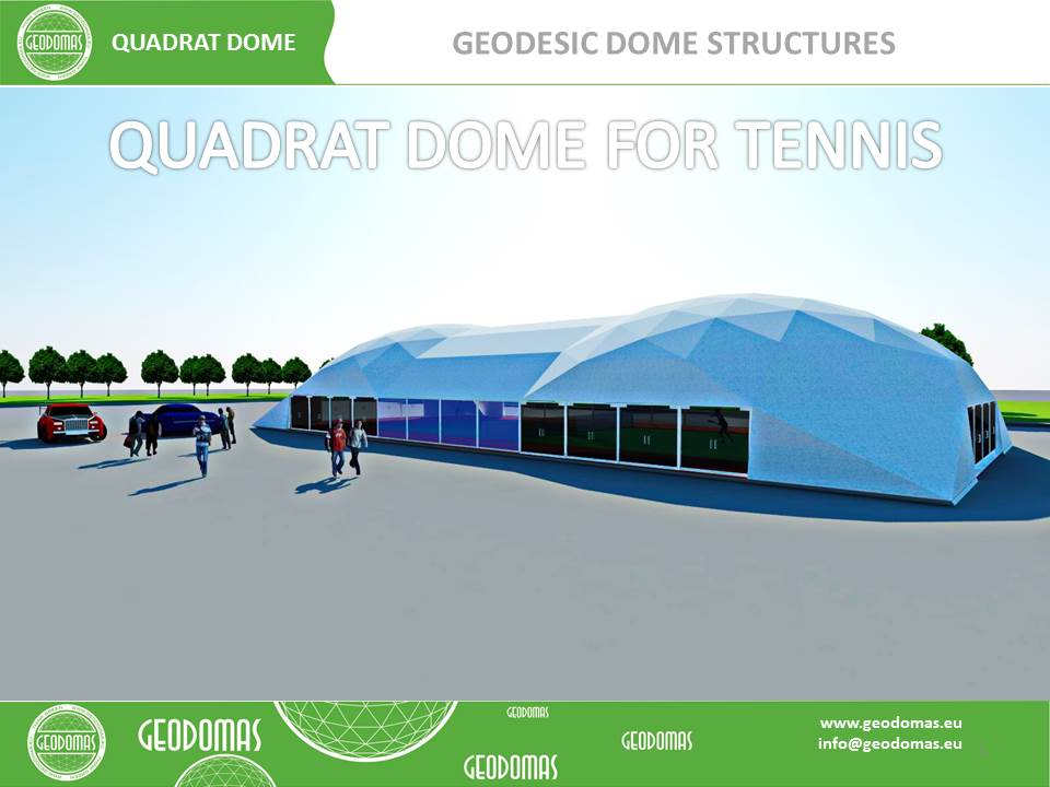 QUADRATDOME Geodesic Domes Tennis Court Cover