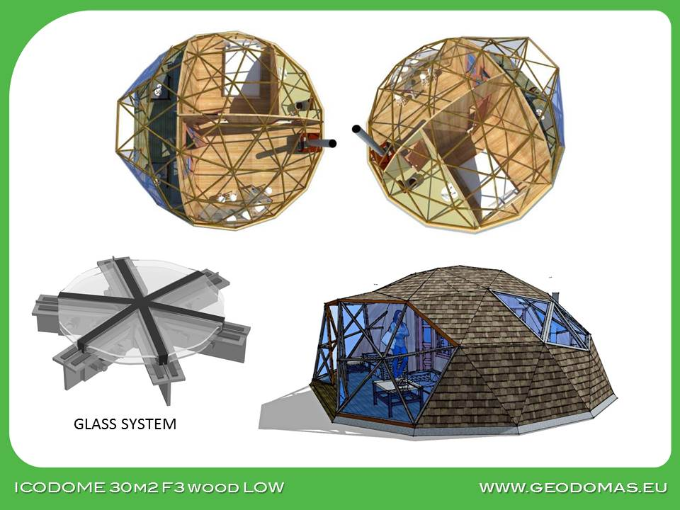 Wood Geodesic Home 50m2 LOW Edition