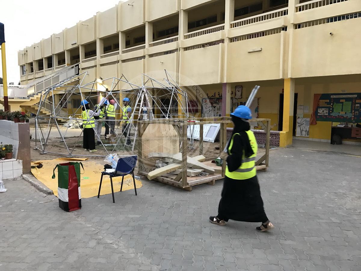 Biodome Ø6m inside a The Philippine Global School | UAE,  Abu Dhabi