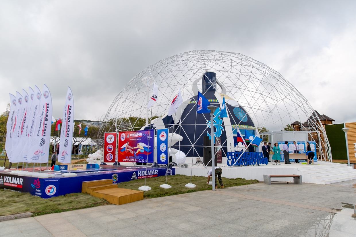 Eastern Economic Forum Ø22m Geodesic Dome, 2017, Vladivostok, Russky Island