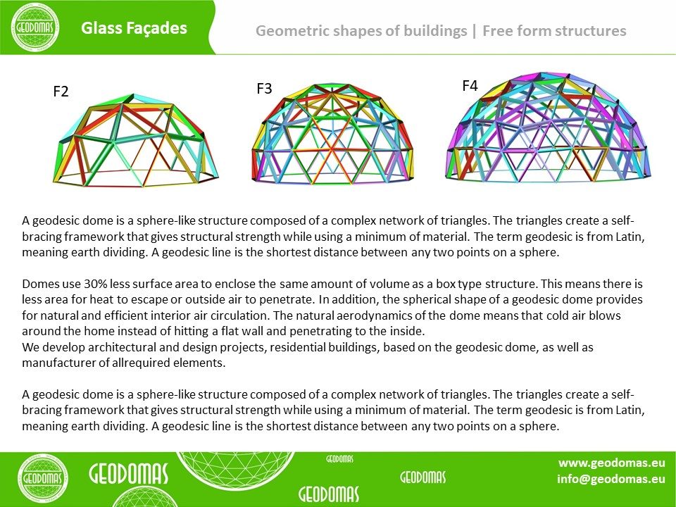 Geodesic glass dome Ø15m protects your house