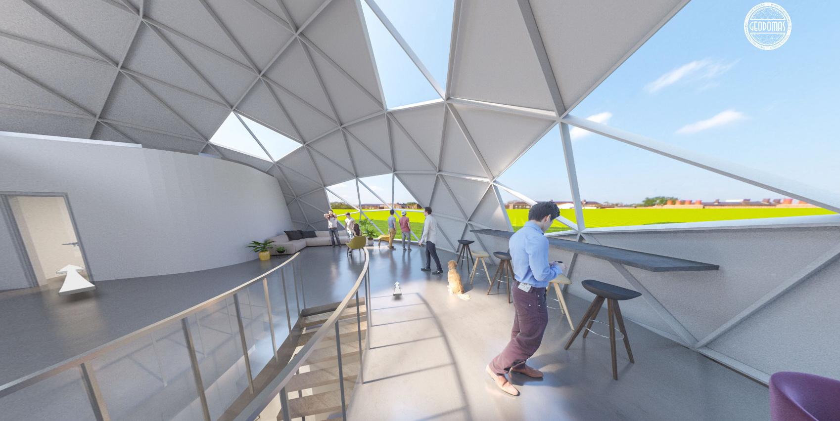 470m2+Loft Office building | Ø20m H10m F6 Dome | Vilnius
