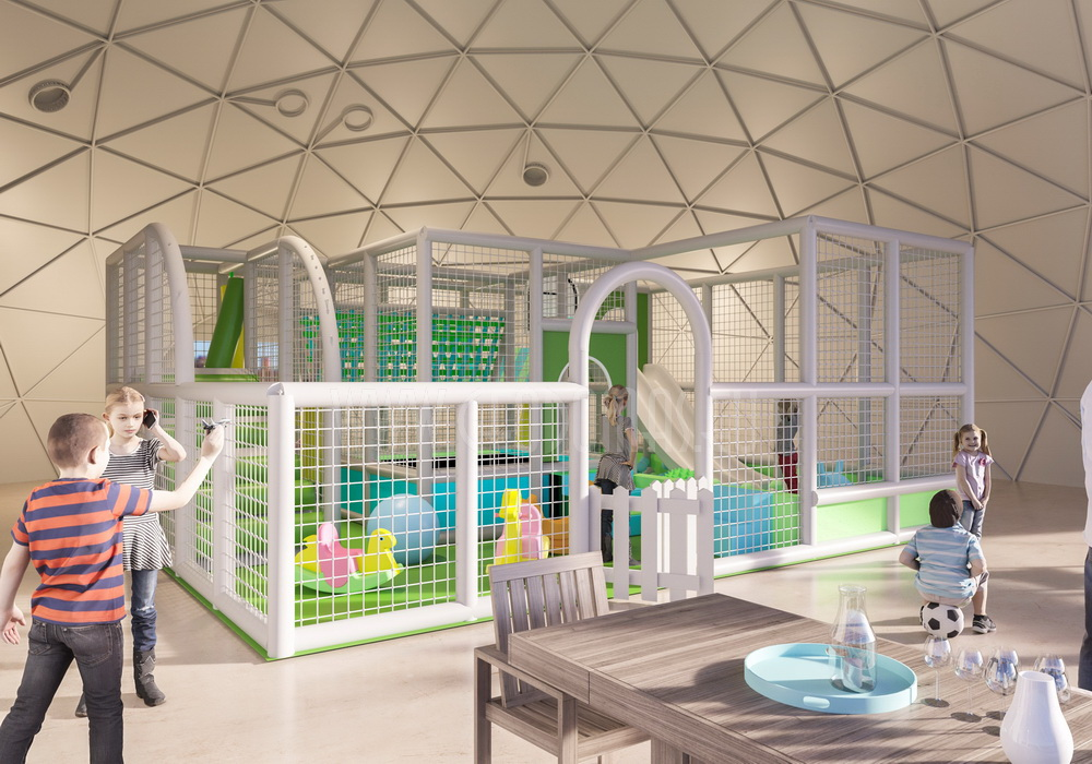 Ø18m F6 H6,5m Playground Dome | Margio recreational resort, Trakai