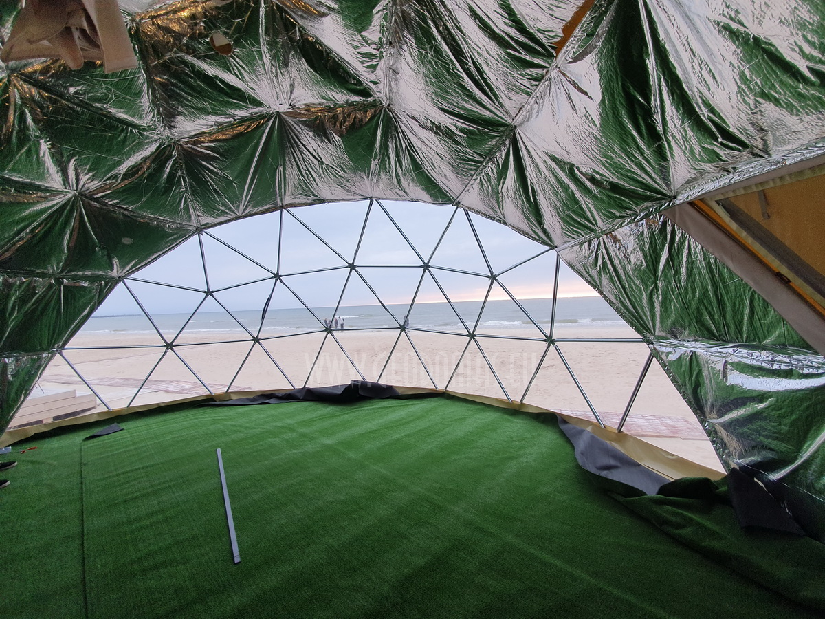 50m² Glamping Dome Ø8m VIP ROOM | Palanga Life Guard Station, Lithuania