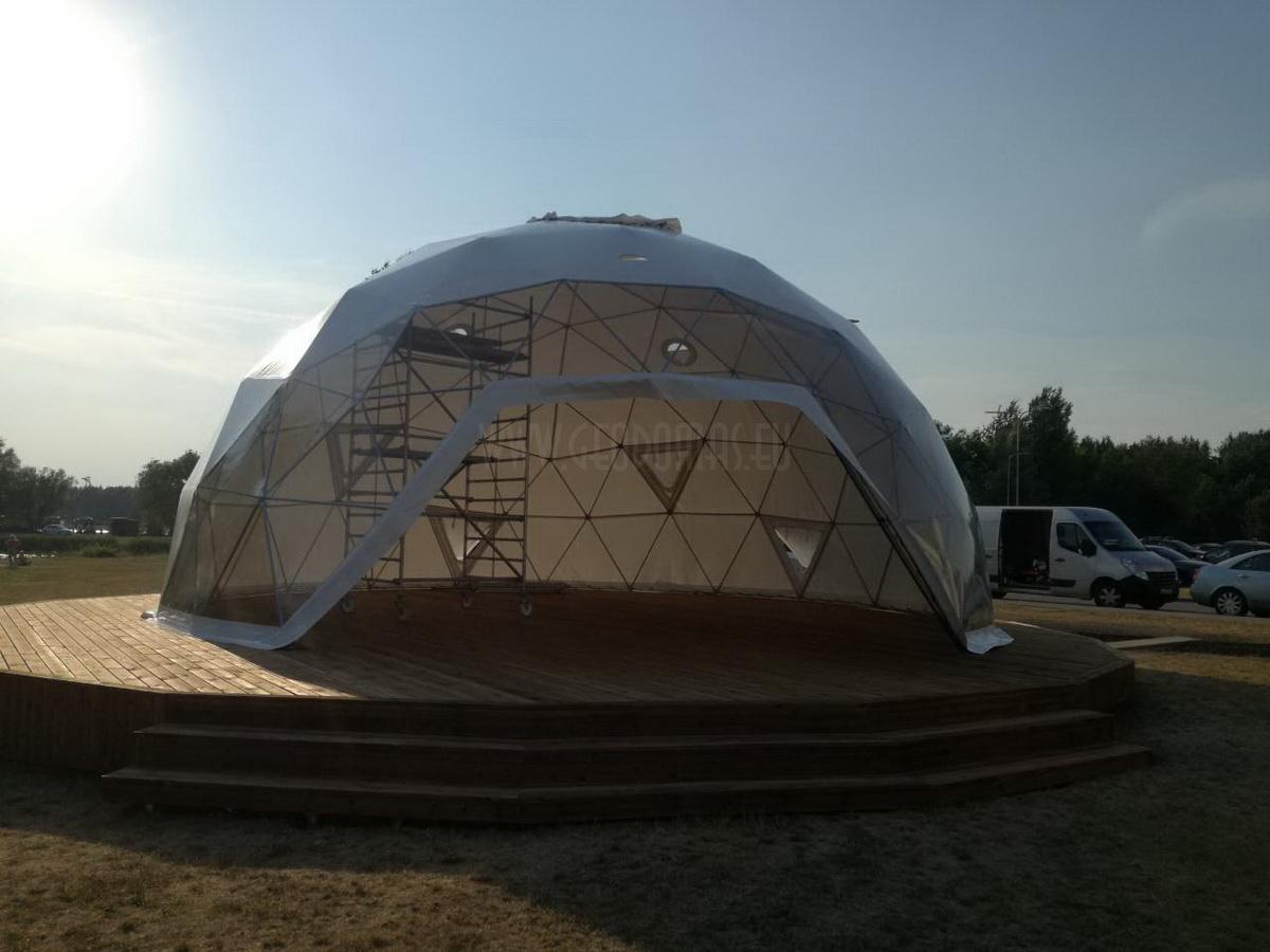 "Ø11m & Ø6m ""Vytautas Mineral SPA"" Terrace-Domes | Birštonas, Lithuania"