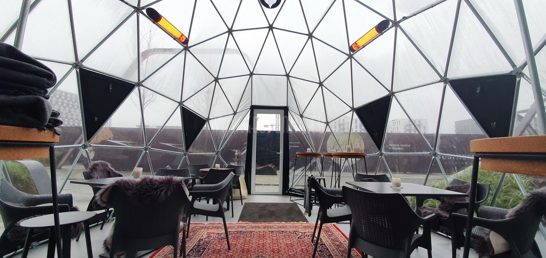 35m² Panoramic Stella Artois Dome Ø7m | Brussels Mussels, Vilnius