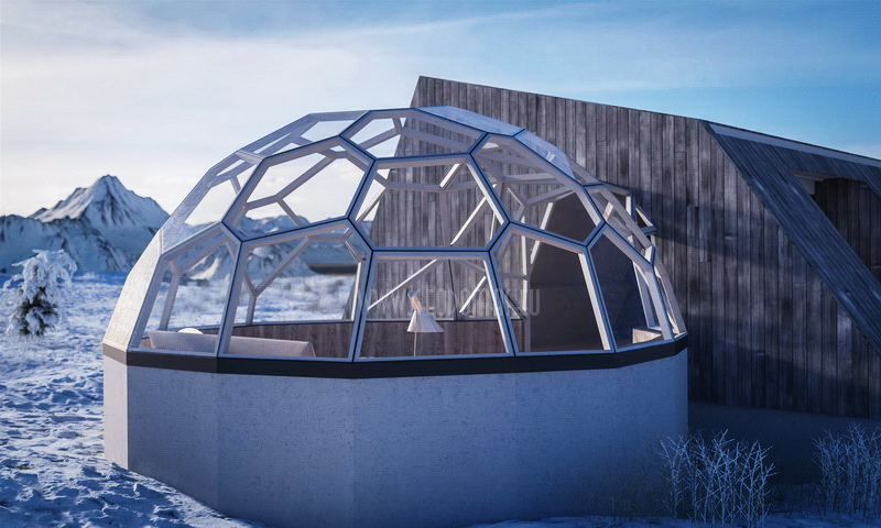 Arctic Aurora Spa Resort -40 ° C and 360 ° VR Interactive Engineering