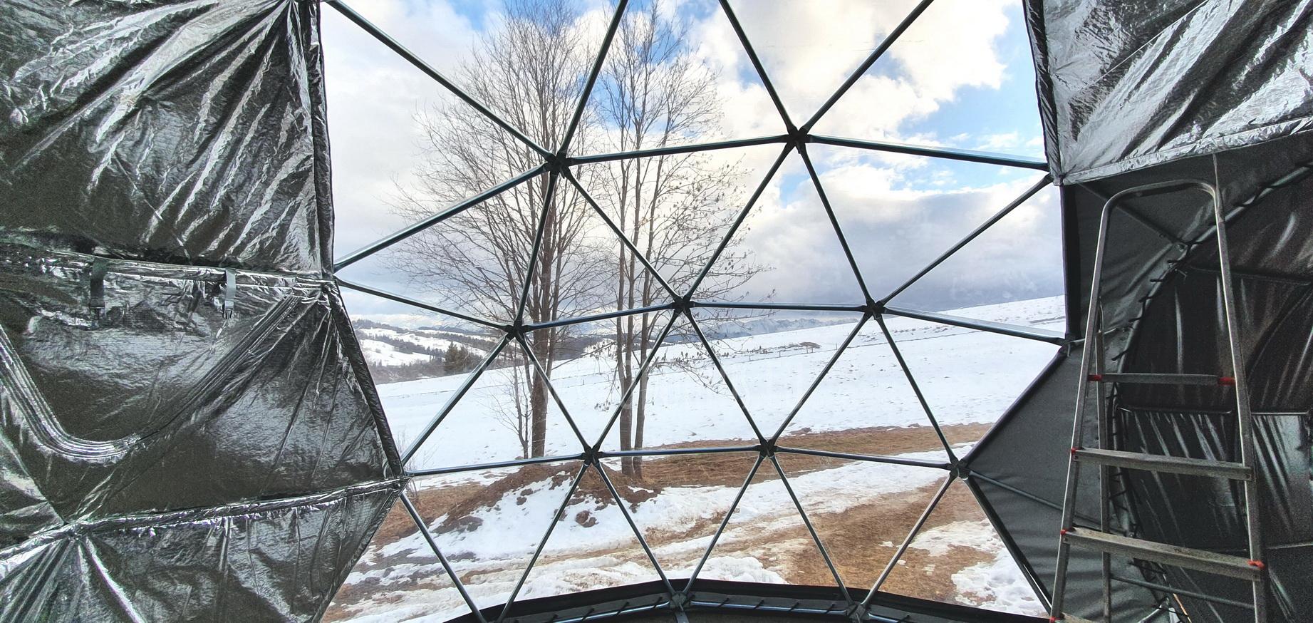 35m² + 20m² Glamping SPA Domes Ø6,7m ir Ø5m | Zakopane, Poland